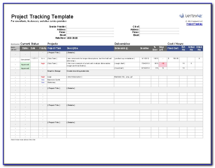 Project Manager Cv Templates Word