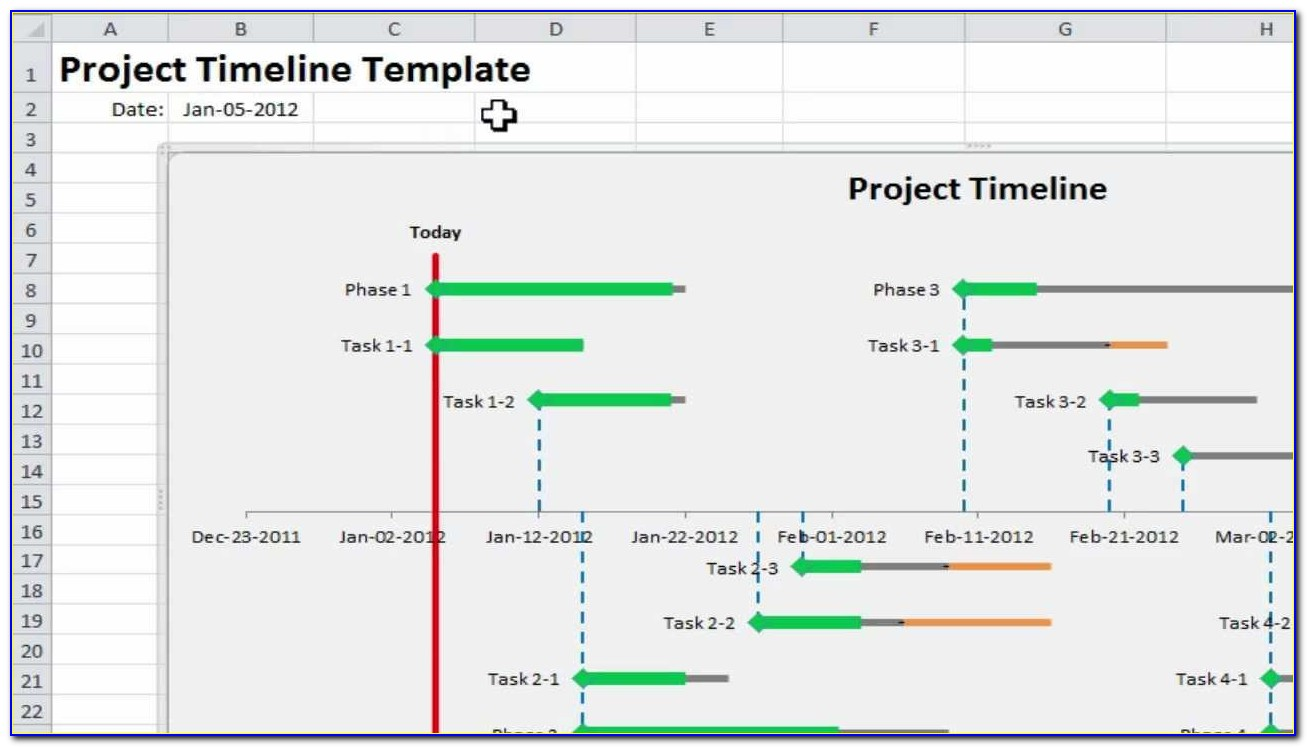 Project Timeline Planning Template For Microsoft Excel