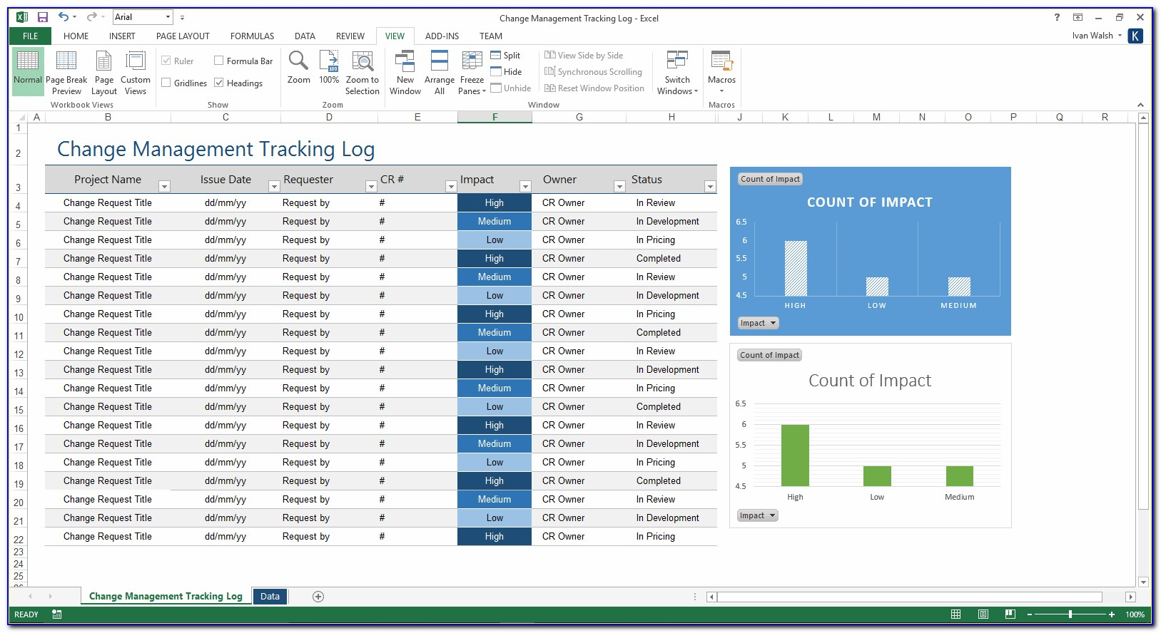 Project Tracker Excel Template Free Download