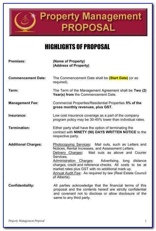 Property Management Proposal Letter Template