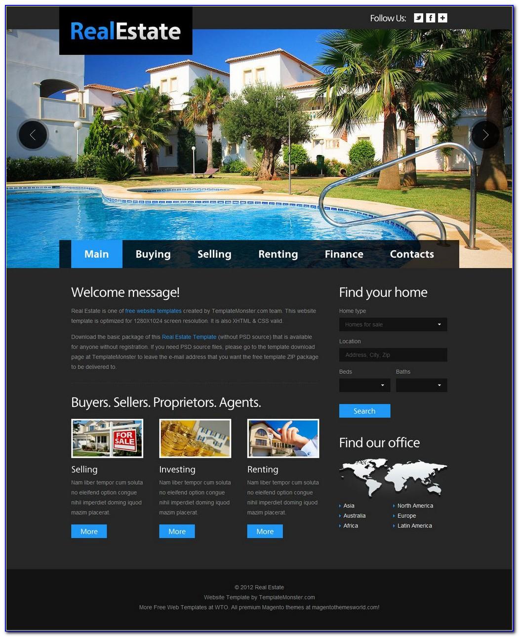 Property Management Website Templates Free Download