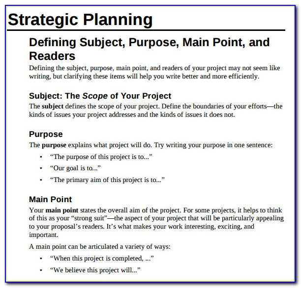 Proposal For Technical Writing