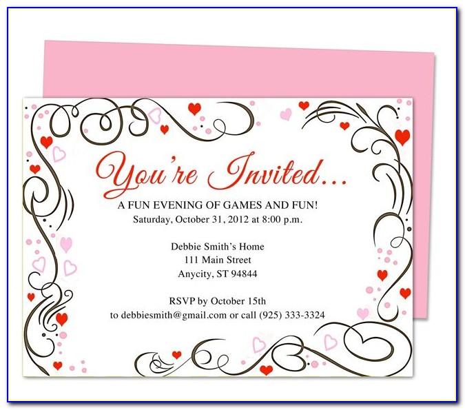 Publisher Wedding Invitation Template