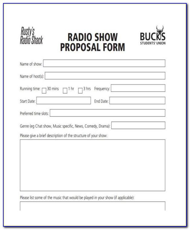 Radio Advertising Proposal Template