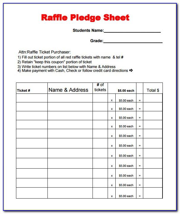 Raffle Sheet Template Excel
