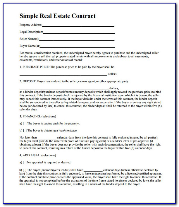 Real Estate Purchase Agreement Template Free Nz
