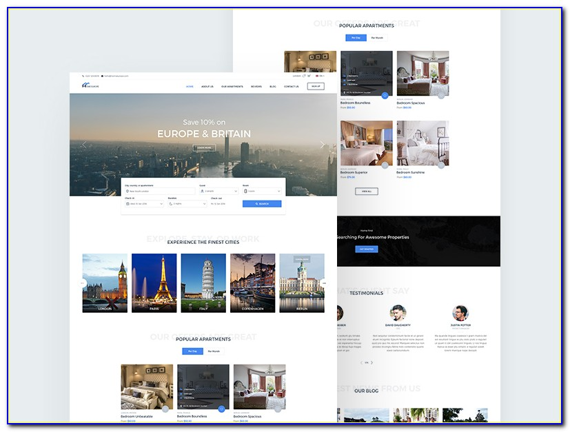 Real Estate Responsive Website Templates Free Download