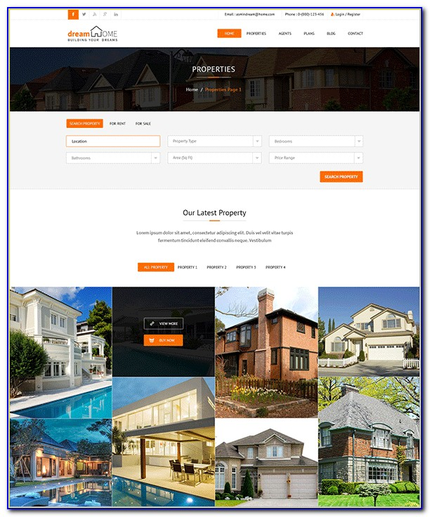 Real Estate Website Bootstrap Template Free Download