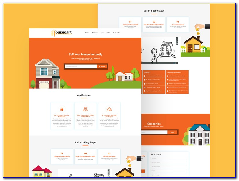 Real Estate Website Template Free Download