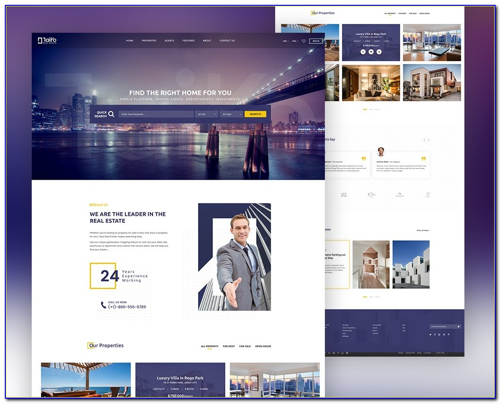Real Estate Website Templates Free Download Bootstrap