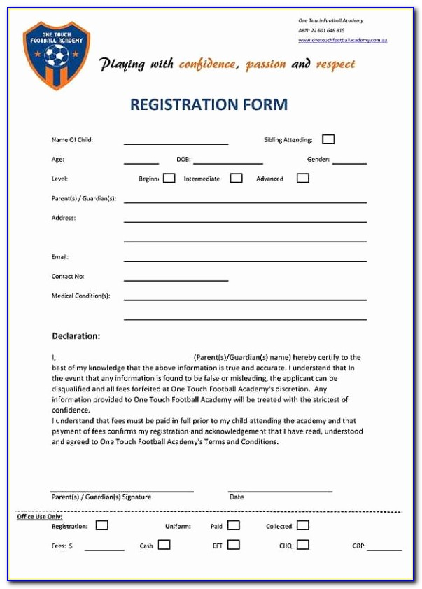 Sample Registration Form Template In Html Free Download