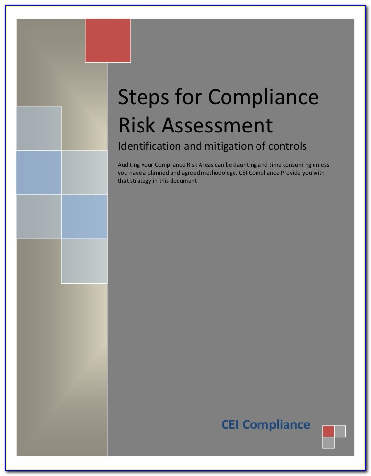 Regulatory Compliance Risk Assessment Template