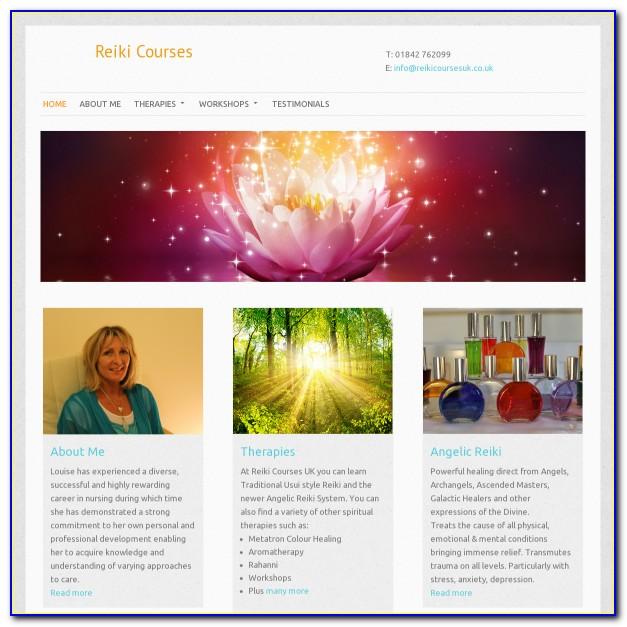 Reiki Website Template