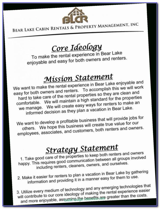 Rental Property Business Plan Sample