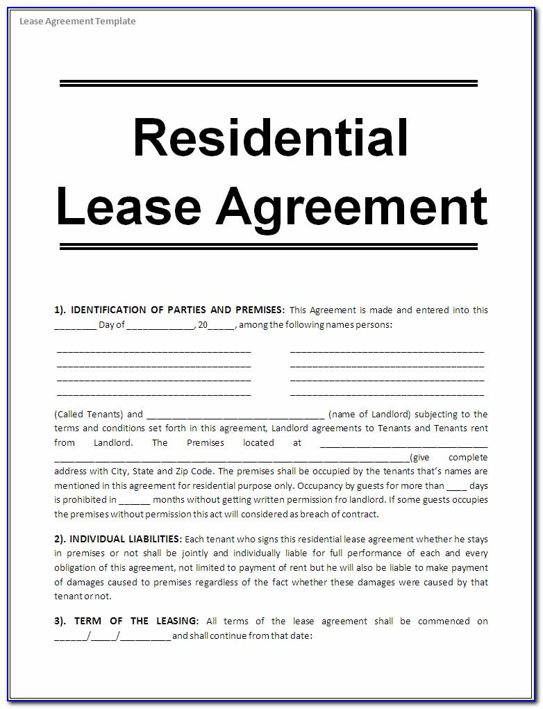 Rental Template Agreement