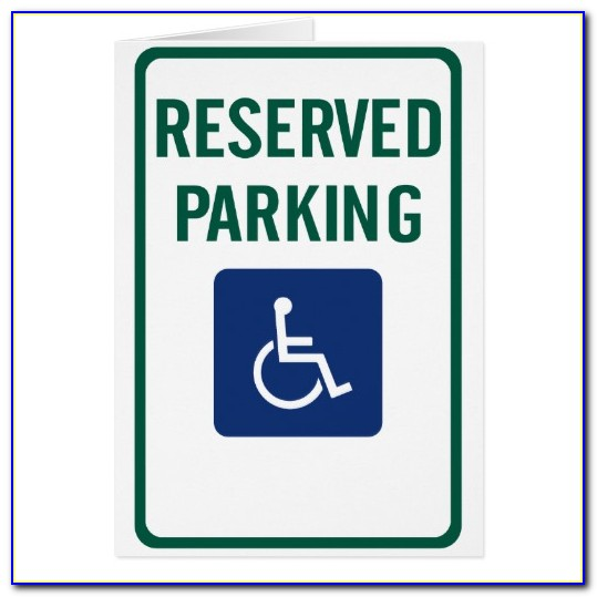 Reserved Parking Space Sign Templates