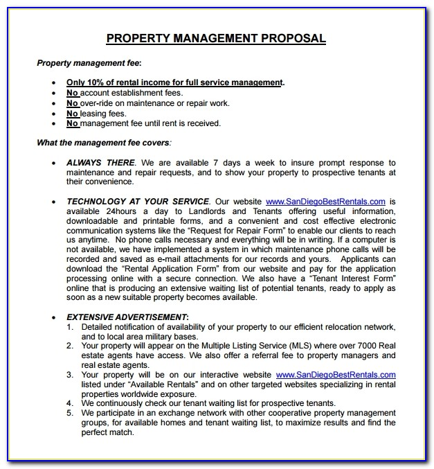 Residential Property Management Proposal Template