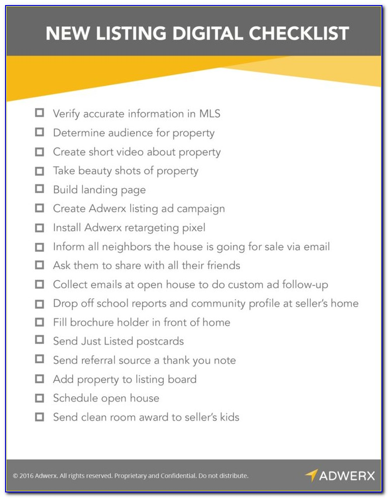 Residential Real Estate Due Diligence Checklist Template
