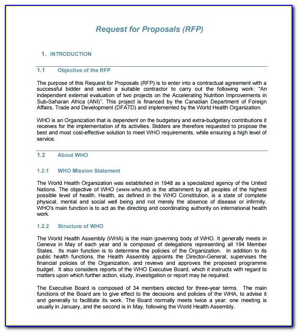 Respond To Rfp Template