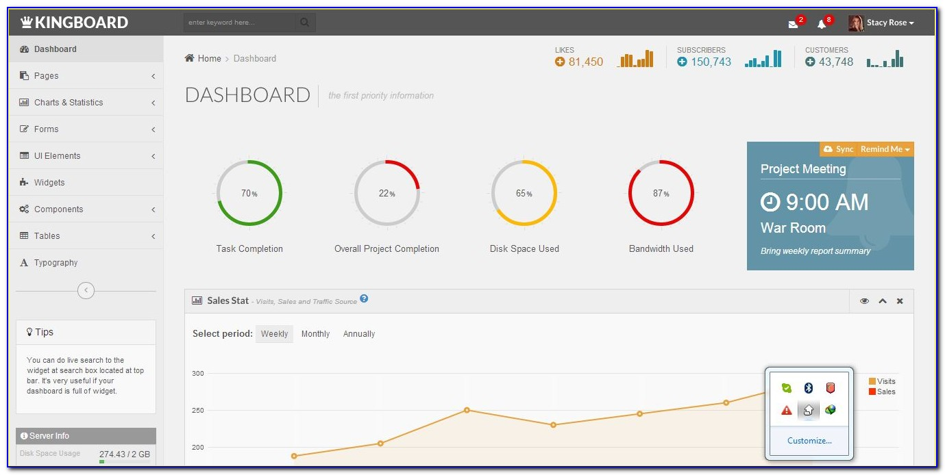Responsive Admin Dashboard Template Free Download