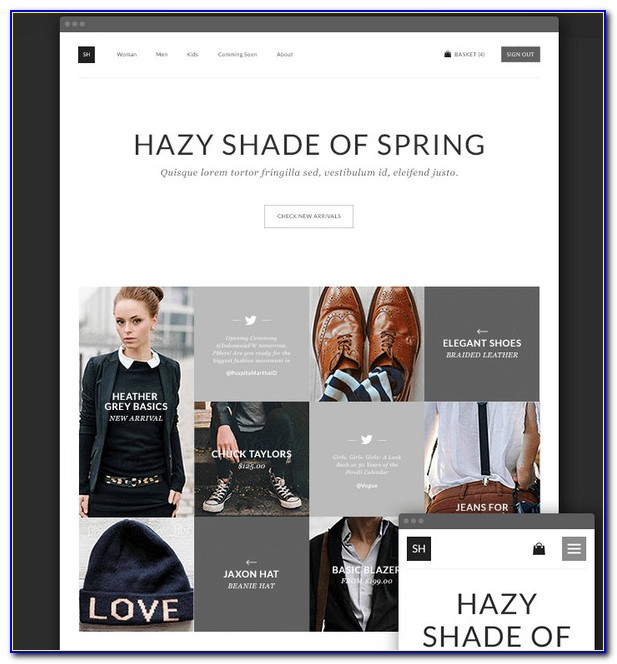 Responsive Clothes Website Templates Free Download