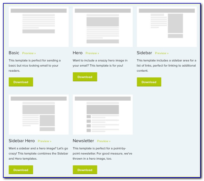Responsive Email Newsletter Template Free Download