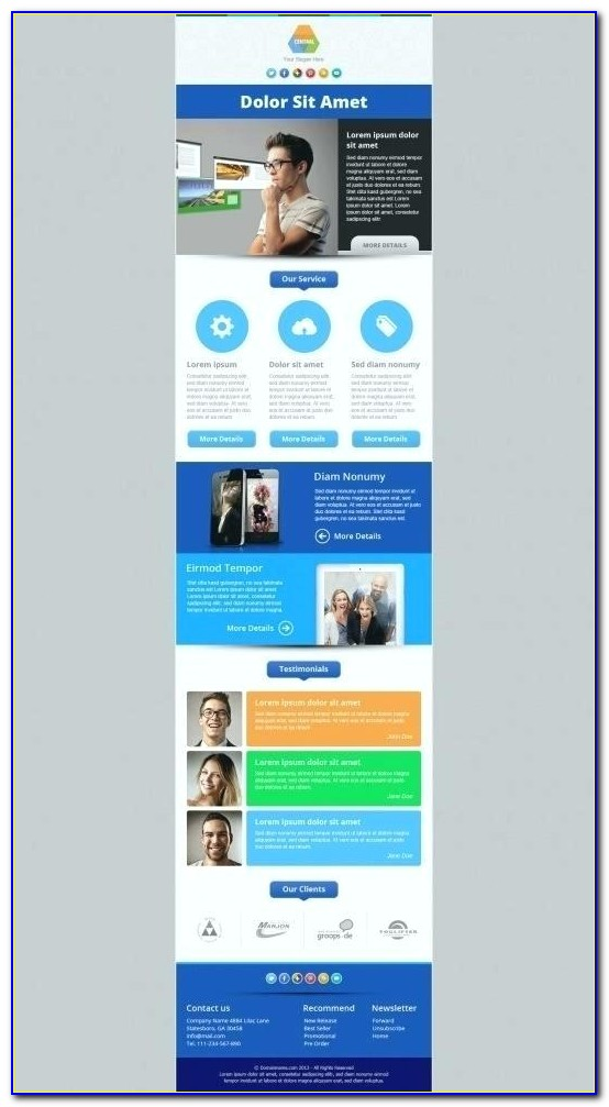 Responsive Html Email Template Free