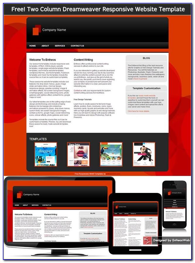 Responsive Website Template Dreamweaver