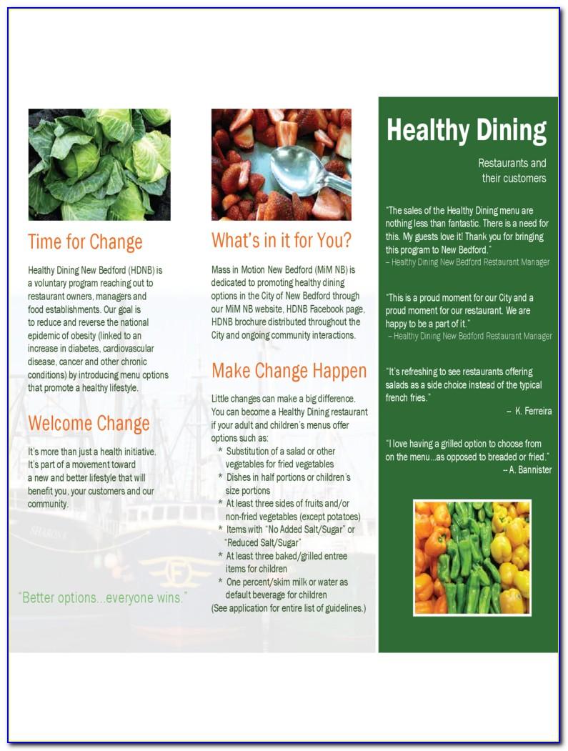 Restaurant Brochure Sample