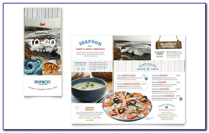 Restaurant Menu Brochure Templates