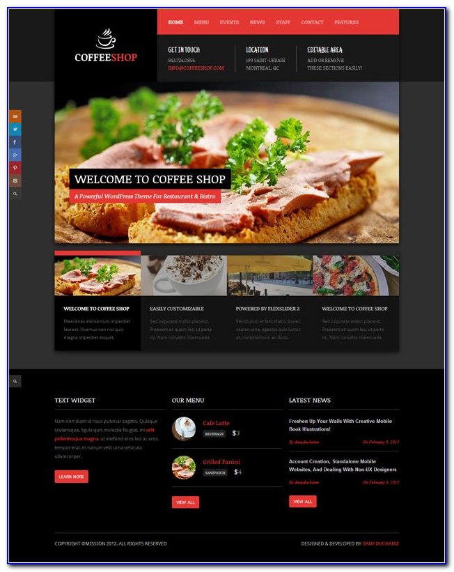 Restaurant Template Wordpress