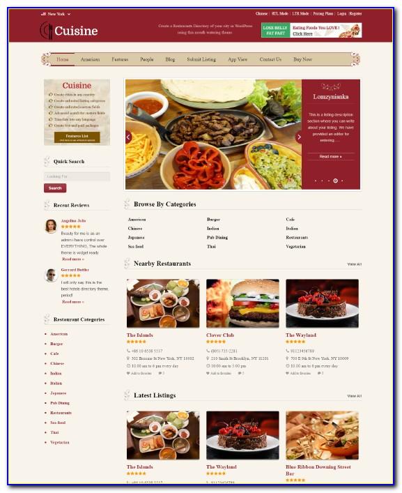 Restaurant Theme Wordpress