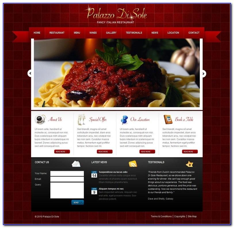 Restaurant Website Templates Wordpress Free