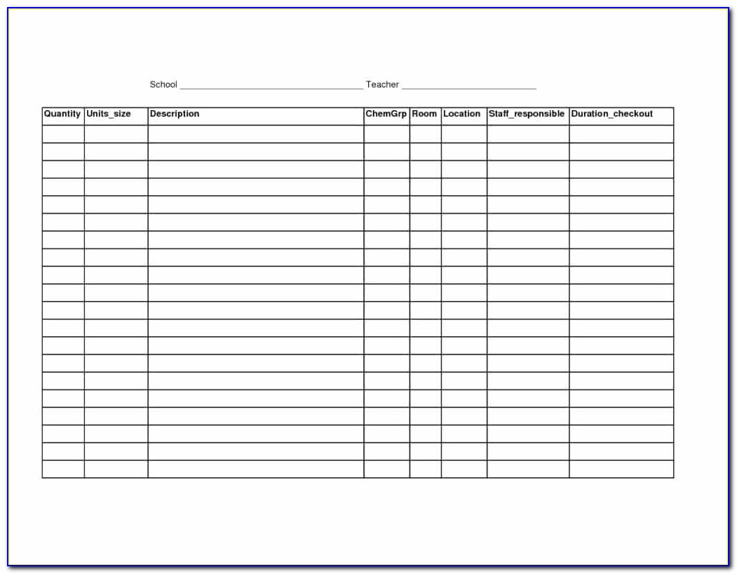 Retail Inventory Spreadsheet Template Free