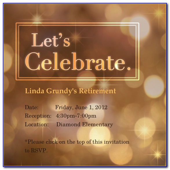 Retirement Celebration Invitation Template Free