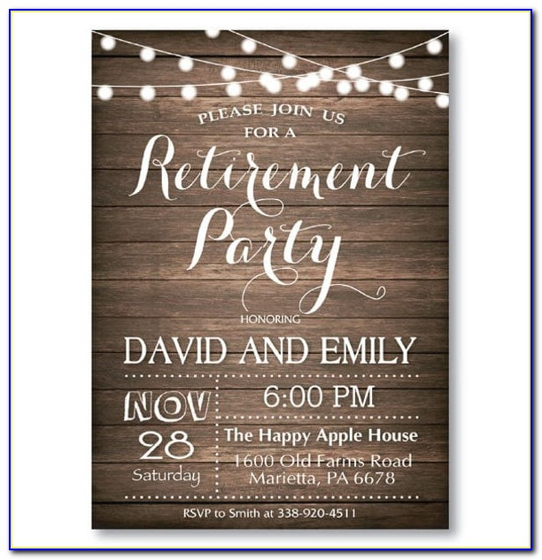 Retirement Party Invitation Wording Samples