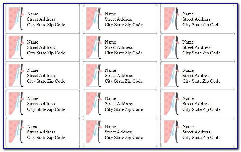 Return Address Labels For Wedding