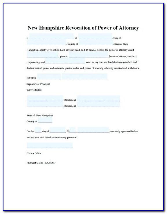 Revoke Power Of Attorney Letter Template