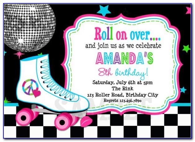 Roller Skate Invitation Template Free
