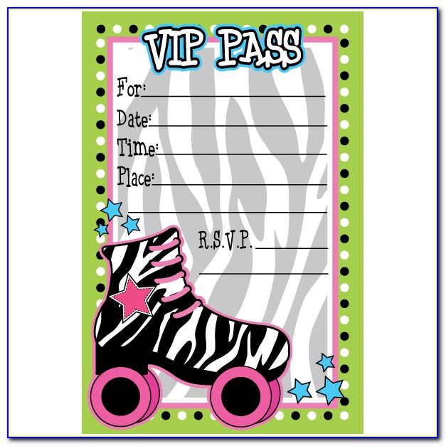 Roller Skate Party Invitation Template