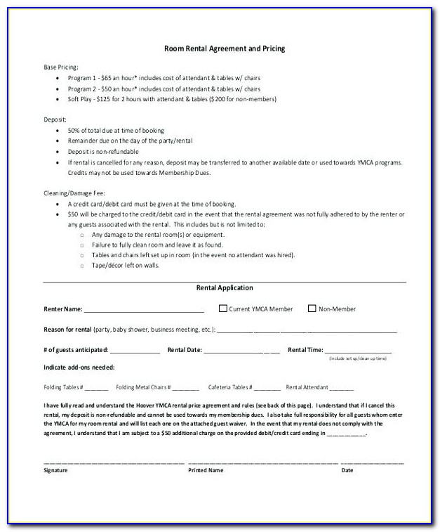 Room Rental Agreement Template Singapore