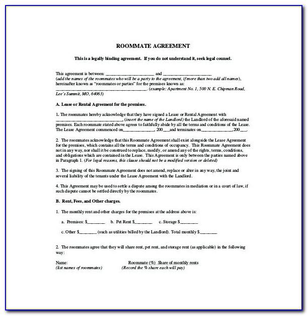 Room Tenancy Agreement Template