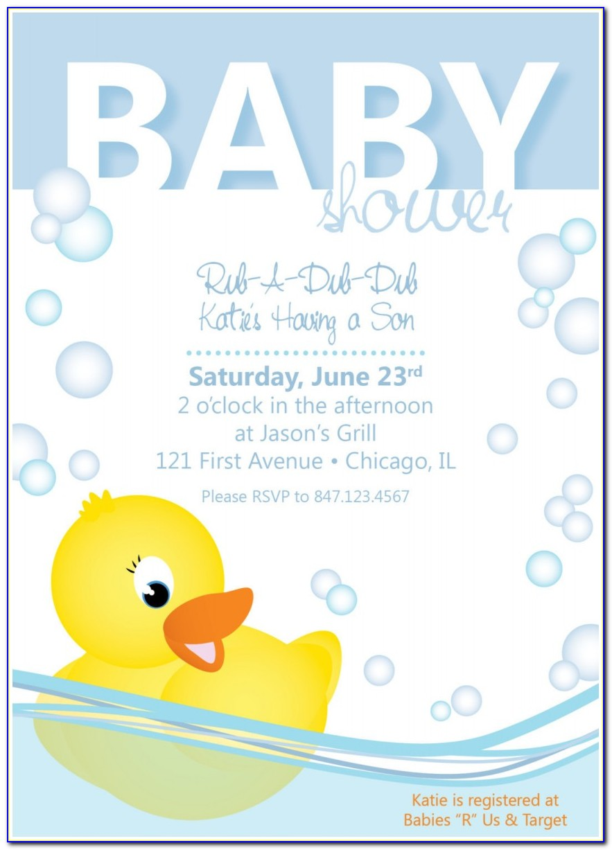 Duck Baby Shower Invitation Templates Elegant Baby Shower Invitation Rubber Ducky By Collidestudio On Etsy