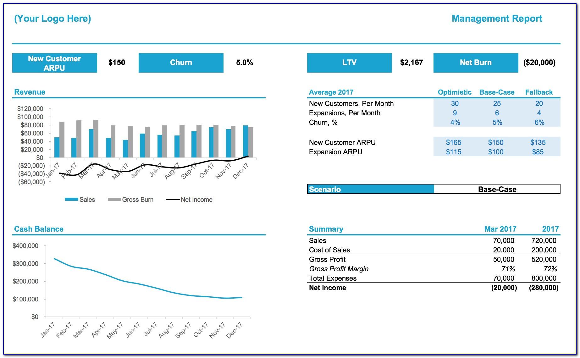 Saas Financial Model Xls