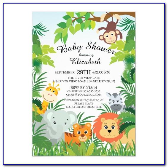 Safari Baby Shower Invitations Printable