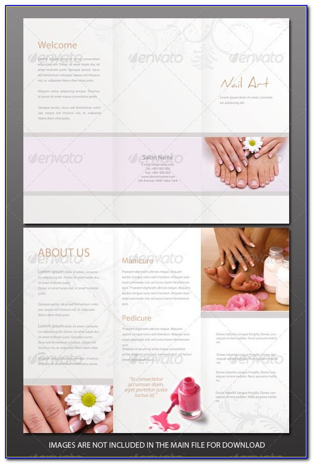 Salon And Spa Brochure Templates