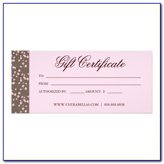 Salon Spa Gift Certificate Templates
