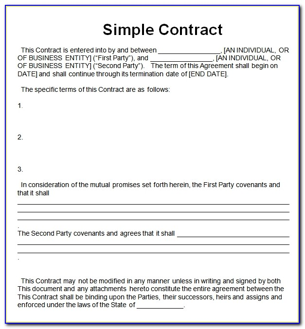 Simple Contract Sample