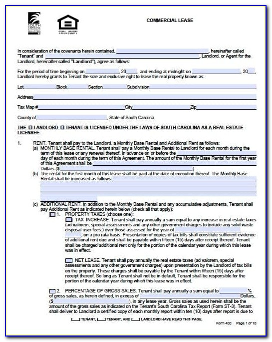 Sample Lease Agreement For A Business
