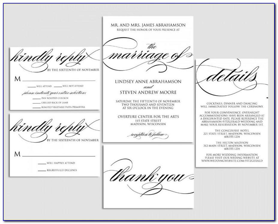 Sample Wedding Invitation Template Free Download